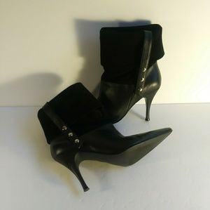 Andrea Candela black ankle boots womens size 4